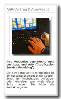 AGB App-Stores auf  App-Recht und ASP-Vertrag